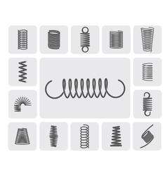 Metal springs set vector