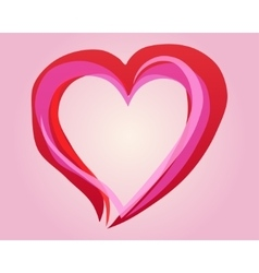 painting heart vector image vector image