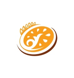 Abstract sign bakery bread vector image vector image