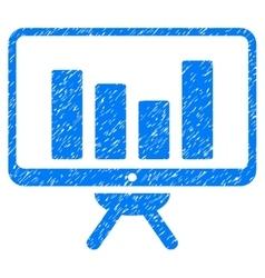 Bar Chart Monitoring Board Grainy Texture Icon vector image