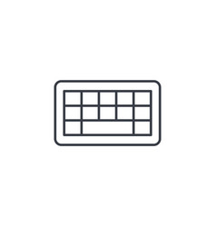 keyboard buttons thin line icon linear vector image vector image