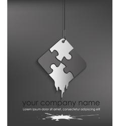 puzzle web icon design element vector image