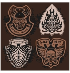 Set Of Military - Army Patches and Badges 4 vector image vector image