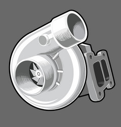 turbo charger vector image