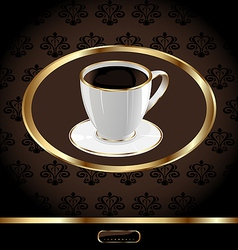 Vintage Coffee Packaging Background vector image vector image
