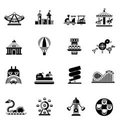 Amusement Icons Black vector image