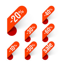 Discount labels vector image