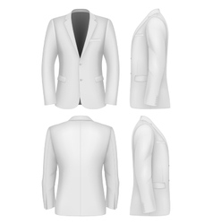 Formal Business Suits Jacket for Men vector image vector image