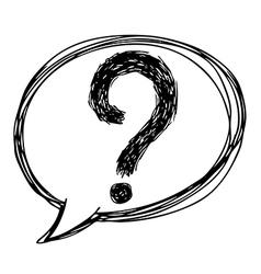 question mark vector image vector image
