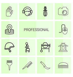 14 professional icons vector
