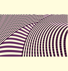 Abstract curve stripe pattern vector