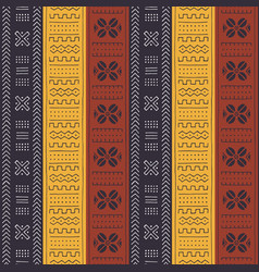 African seamless pattern with geometric ornament vector