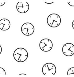 Alarm clock seamless pattern background icon vector