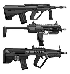 Army modern weapons vector