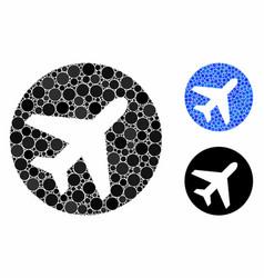 Avion mosaic icon circles vector