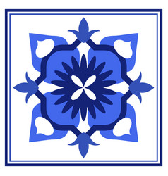 Azulejos portuguese traditional ornamental tile vector
