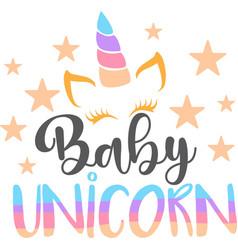 Baby unicorn isolated on white background vector