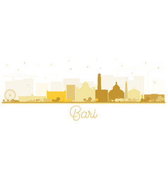 Bari italy city skyline silhouette with golden vector