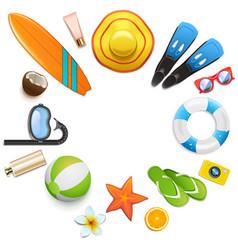 beach round concept vector image
