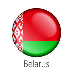 Belarus round button flag vector