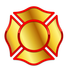 Blank fire department logo base gold and red vector