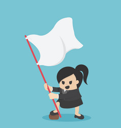 business woman hands has the flag of success in vector image