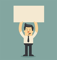 businessman holding paper vector image