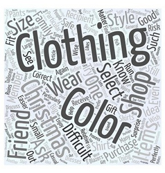 Buying Clothing When Christmas Shopping Word Cloud vector image