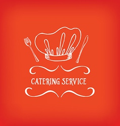 Catering service design logo vector image