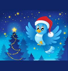 christmas animal theme image 3 vector image