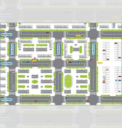City plan vector