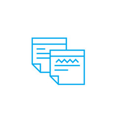 completed forms linear icon concept completed vector image