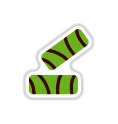 Crisp pastry pie sticker vector
