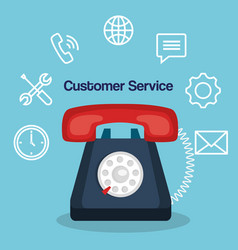 customer service flat settings vector image