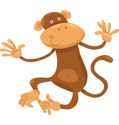 Cute monkey cartoon vector