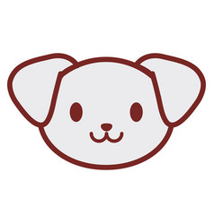 Cute puppy face image vector