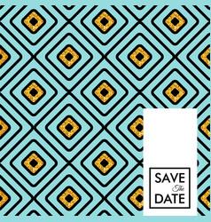 Decorative save the date wedding invitation vector