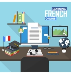 E-learning French language vector