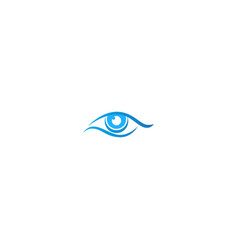 eye abstract vision logo vector image