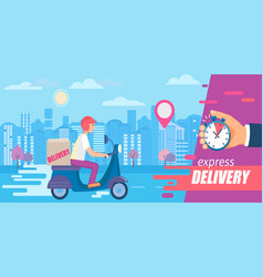 fast and free delivery in short time on scooters vector image