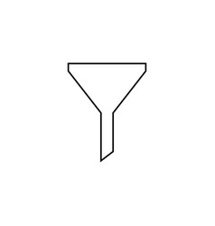 Funnel simple linear icon vector
