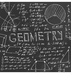 Geometry Blackboard vector image