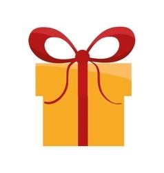 gift bowtie present design vector image