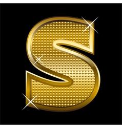 Golden font type letter S vector