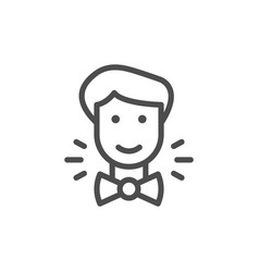 groom line icon vector image