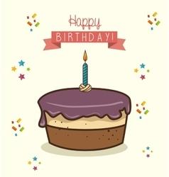 happy birthday design isolated vector image