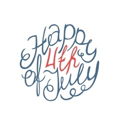Happy Independence day handlettering element vector