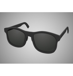 Isolated black realistic sunglasses vector image