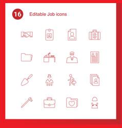 job icons vector image