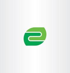 letter z green leaf icon logo symbol vector image